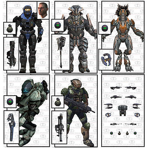 Mcfarlane Toys MF188004 Halo Reach Series 5 - Assorted Case