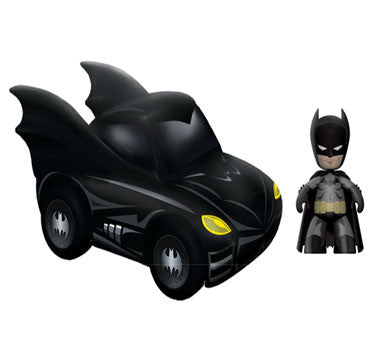Mezco Toyz MZ371802 DC Mini Mez-Itz with Vehicle Set - Batman & The Batmobile - Peazz Toys