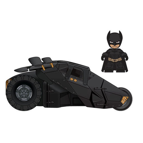 Mezco Toyz MZ377507 Dark Knight Mini Mez-Itz with Vehicle Set - Batman w/ Tumbler - Peazz Toys