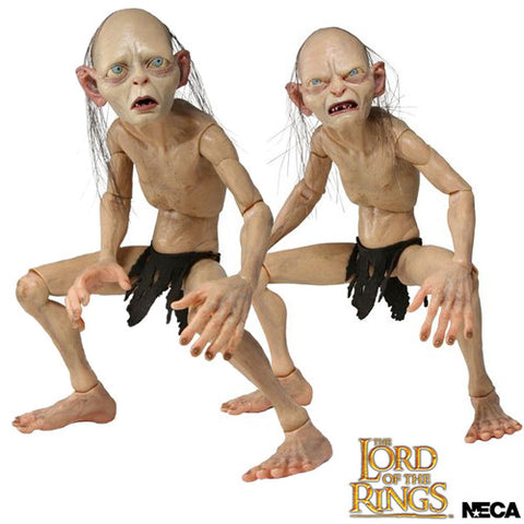 Neca N304891 Lord of The Rings - 1/4 Scale Gollum & Smeagol Figure Set - Peazz Toys