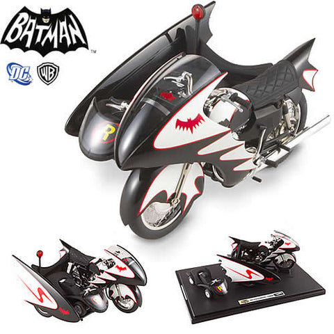 Mattel OTR0006 Hot Wheels Elite 1:12 Scale Diecast - Batman TV Series (1966) Batcycle - Peazz Toys