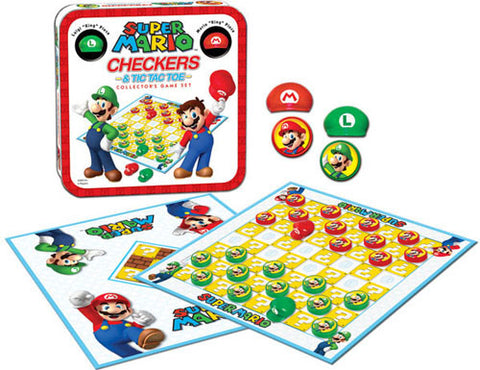 Usaopoly, Inc. UP044105 Checkers & Tic Tac Toe - Super Mario - Peazz Toys