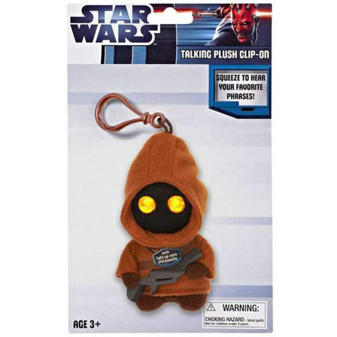 "Underground Toys UT004847 Star Wars 4"" Talking Clip-On Plush - Jawa - Peazz Toys"