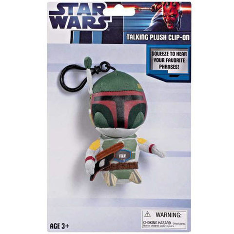 "Underground Toys UT004854 Star Wars 4"" Talking Clip-On Plush - Boba Fett - Peazz Toys"