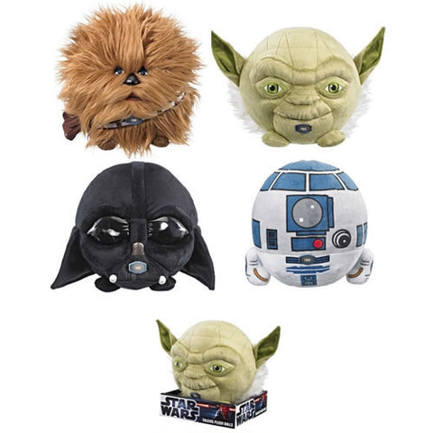 "Underground Toys UT00899J Star Wars 7"" Talking Ball Plush Assortment - Peazz Toys"