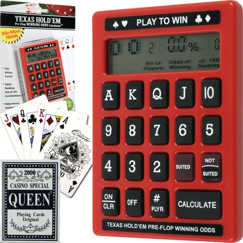 Trademark Commerce TMC-10-19350 Pre-Flop Odds Calculator Value Pack (Includes Deck Of Cards) - Peazz Toys