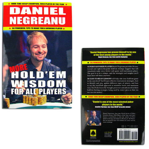 Trademark Commerce TMC-10-CP2246 More Holdem Wisdom For All Players By Daniel Negreanu - Peazz Toys