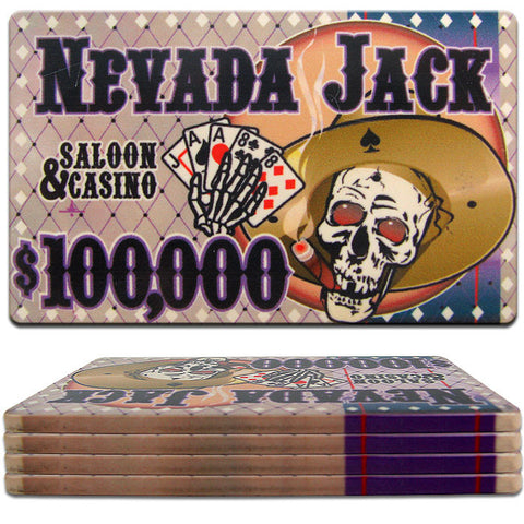 Trademark Commerce TMC-10-NJP100K Nevada Jacks Ceramic Poker Chip Plaque - $100000 - Peazz Toys