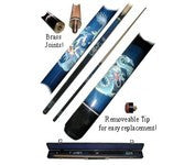 Trademark Commerce 40-612BL Blue Dragon Pool Stick - Peazz Toys
