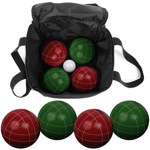 9 Piece Bocce Ball Set with Easy Carry Nylon Bag - Peazz Toys