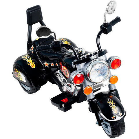 Trademark Commerce 80-1717 Rockin' Rollerst Boss Chopper Battery Powered Trike - Raven - Peazz Toys