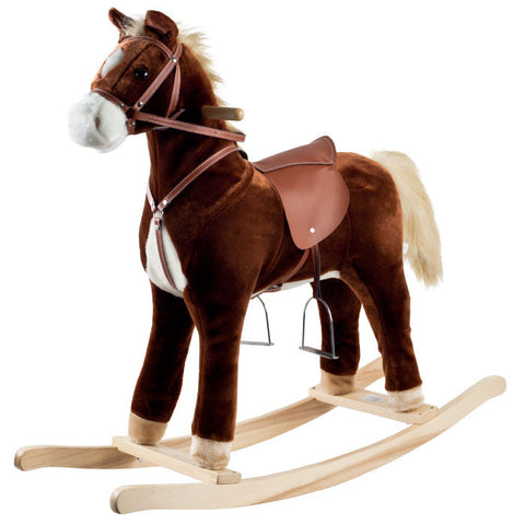 Trademark Commerce 80-6103 Happy Trails Plush Rocking Horse - Peazz Toys