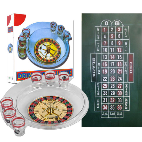 Trademark Commerce 80-802DLAY The Spins Roulette Drinking Game And Layout By Tgt - Peazz Toys