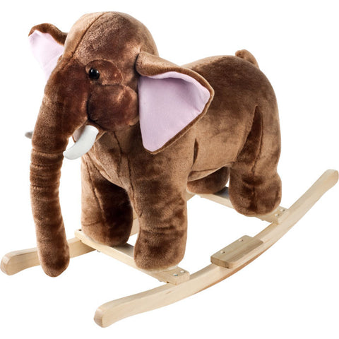 Trademark Commerce 80-88ELEPH Happy Trails Plush Rocking Mo Mammoth With Sounds - Peazz Toys