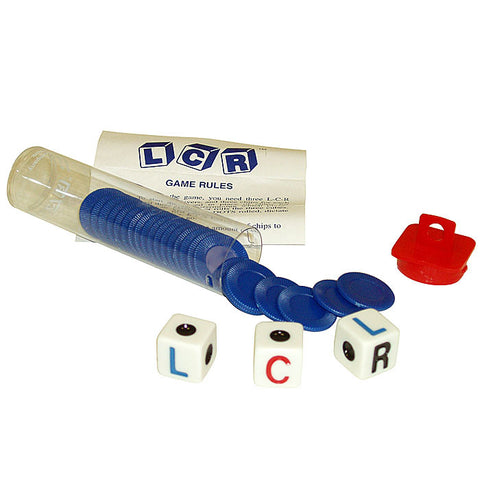 Left  Right Center LCR Dice Game - Choice of 4 Colors - Peazz Toys