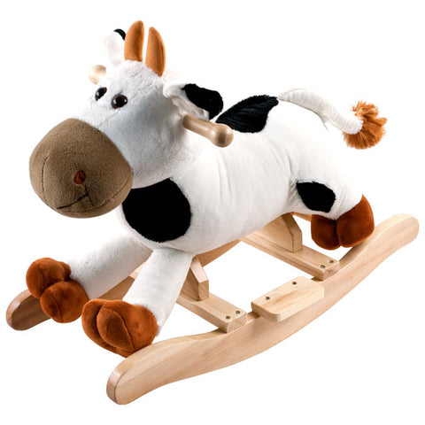 Trademark Commerce 80-RX8083 Happy Trails Plush Rocking Connie Cow With Sounds - Peazz Toys
