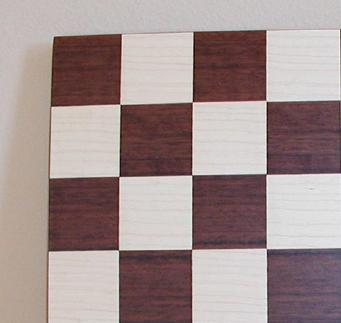"Dark Rosewood Montgoy Maple Chess Board, 14"" x 14"", 1.75"" Squares - Peazz Toys"