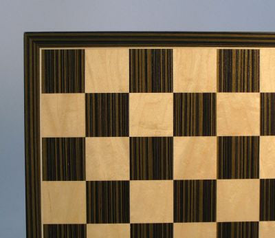 "Ebony/Maple Veneer Board, 17.3 x 17.3, Thin Frame, 2"" Squares - Peazz Toys"