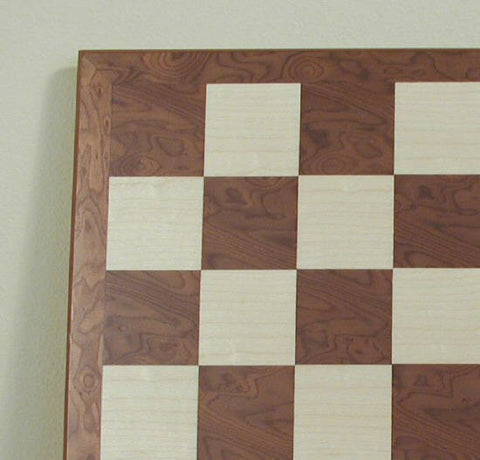 "17 3/10"" Hazelnut/Maple Board, w/ Thin Frame, 2"" Squares - Peazz Toys"