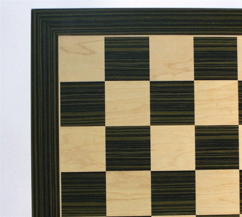 "Ebony and Maple Chess Board, 2.2"" Squares - Peazz Toys"