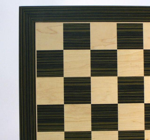 "22"" Ebony and Maple Chess Board, 2 1/5"" Squares - Peazz Toys"