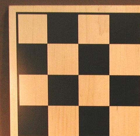 "17"" Black and Natural Silkscreened Board, 2"" Squares, Matte Finish - Peazz Toys"
