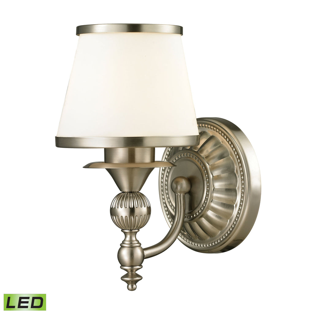 elk lighting 11600 1 led smithfield collection brushed nickel finish