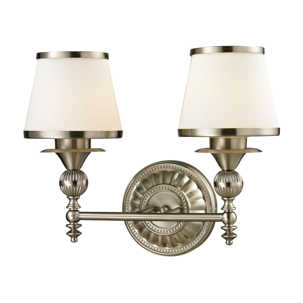 elk lighting 11601 2 smithfield collection brushed nickel finish