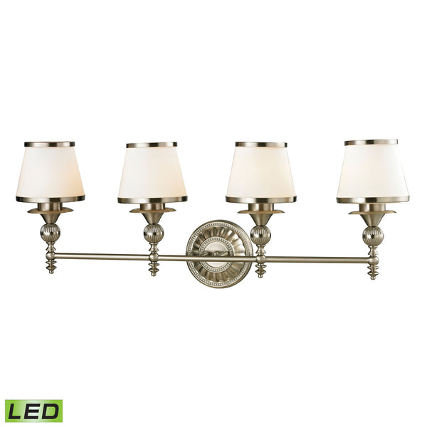 elk lighting 11603 4 led smithfield collection brushed nickel finish