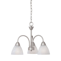 Thomas Lighting 190005117 Tia Collection Matte Nickel Finish Transitional Chandelier