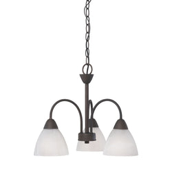 Thomas Lighting 190005763 Tia Collection Painted Bronze Finish Transitional Chandelier