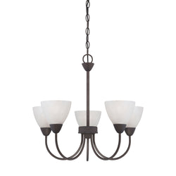 Thomas Lighting 190006763 Tia Collection Painted Bronze Finish Transitional Chandelier