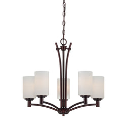 Thomas Lighting 190041719 Pittman Collection Sienna Bronze Finish Transitional Chandelier