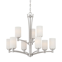 Thomas Lighting 190042217 Pittman Collection Brushed Nickel Finish Transitional Chandelier