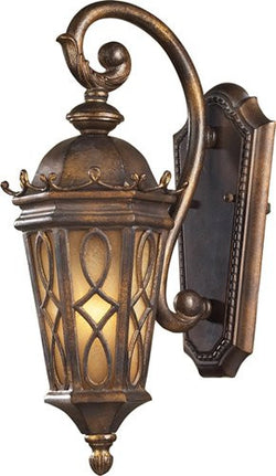 ELK Lighting 42000-1 One Light Outdoor Sconce In Hazlenut Bronze And  Amber Scavo Glass - ELKLightingCenter - 1