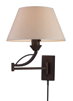 ELK Lighting 17026-1 Elysburg One Light Swingarm Sconce In Aged Bronze - ELKLightingCenter - 1