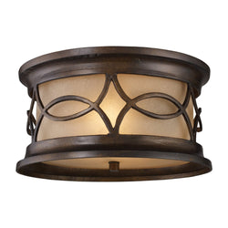 ELK Lighting 41999-2 Burlington Gate Two Light Outdoor Flush Mount In Hazelnut Bronze - ELKLightingCenter - 1