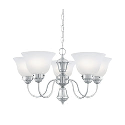 Thomas Lighting SL801078 Whitmore Collection Brushed Nickel Finish Traditional Chandelier