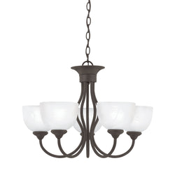 Thomas Lighting SL801563 Tahoe Collection Painted Bronze Finish Traditional Chandelier