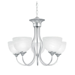 Thomas Lighting SL801578 Tahoe Collection Brushed Nickel Finish Traditional Chandelier