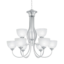 Thomas Lighting SL801678 Tahoe Collection Brushed Nickel Finish Traditional Chandelier