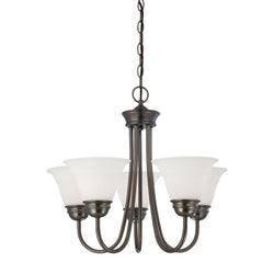 Thomas Lighting SL805115 Bella Collection Oiled Bronze Finish Traditional Chandelier
