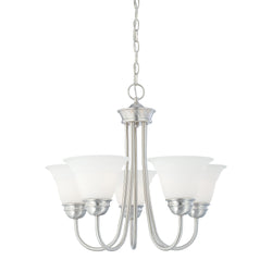 Thomas Lighting SL805178 Bella Collection Brushed Nickel Finish Traditional Chandelier