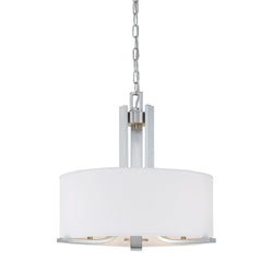 Thomas Lighting SL806678 Pendenza Collection Brushed Nickel Finish Transitional Chandelier