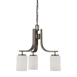 Thomas Lighting SL806815 Pendenza Collection Oiled Bronze Finish Transitional Chandelier