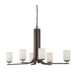 Thomas Lighting SL806915 Pendenza Collection Oiled Bronze Finish Transitional Chandelier
