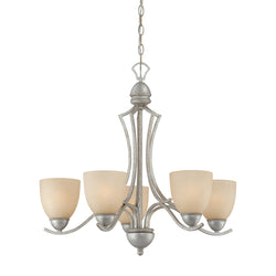 Thomas Lighting SL808272 Triton Collection Moonlight Silver Finish Traditional Chandelier