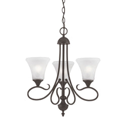 Thomas Lighting SL811363 Elipse Collection Painted Bronze Finish Transitional Chandelier