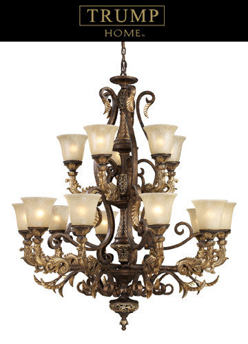 ELK Lighting Lighting 2166-10+5 Fifteen Light Chandelier In Burnt Bronze - ELKLightingCenter