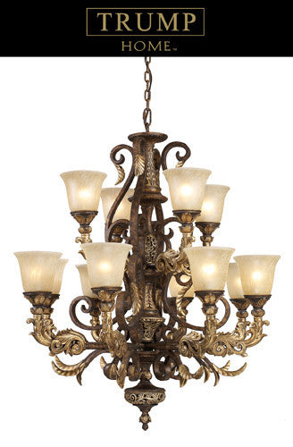 ELK Lighting Lighting 2165-8+4 Twelve Light Chandelier In Burnt Bronze - ELKLightingCenter